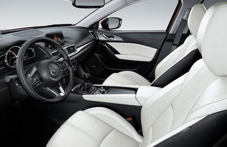 2018 Mazda3 front row seating