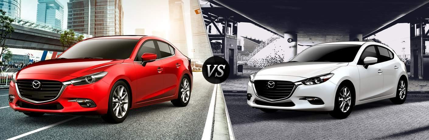 & 2018 Mazda3 4-Door vs 2018 Mazda3 5-Door