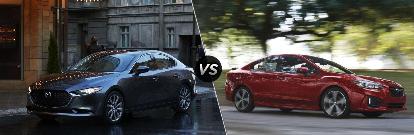 2019 Mazda3 Sedan vs 2019 Subaru Impreza Sedan