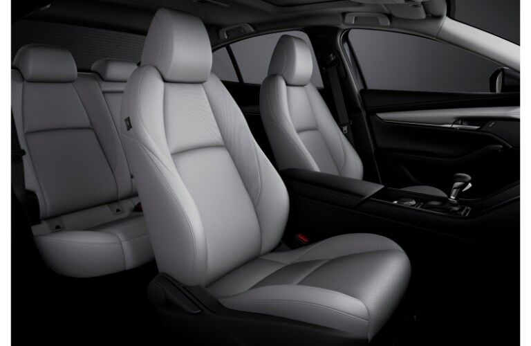 2019 Mazda3 interior shot of seating design and upholstery
