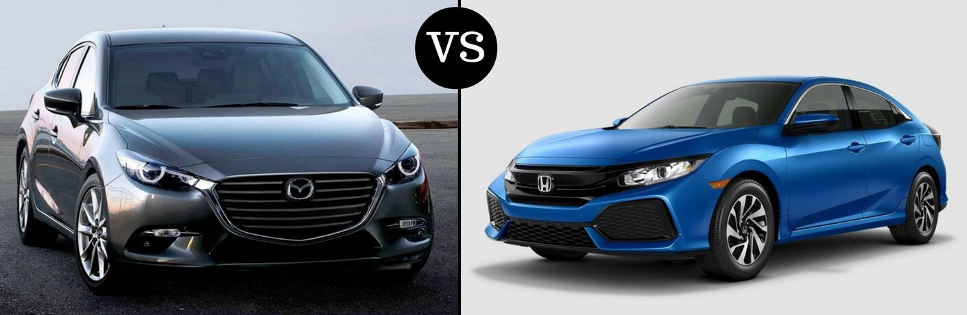 2017 Mazda3 vs 2017 Honda Civic Hatchback