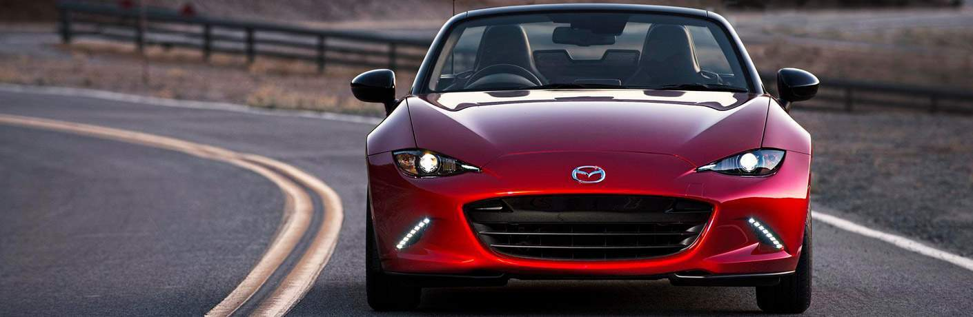 red mx-5 miata front, grille