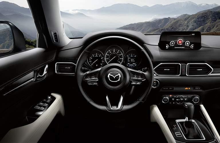 mazda cx-5 interior, black steering wheel