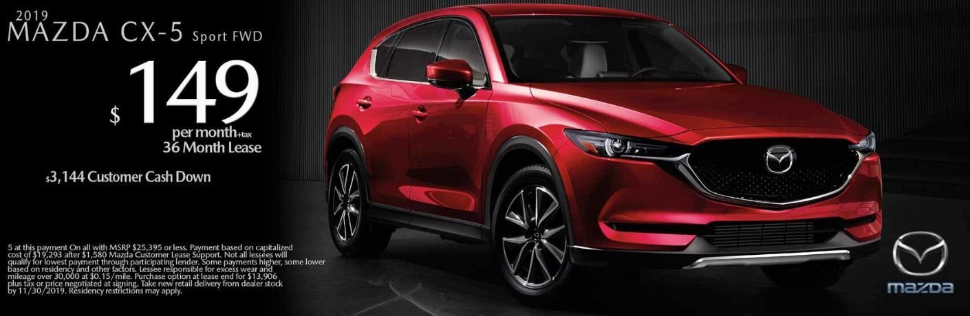 Promotional Banner for the 2019 Mazda CX-5 Black Friday Lease Promotion