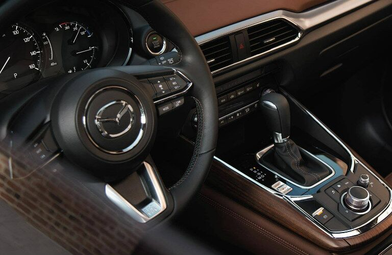 2019 Mazda CX-9 steering wheel and gear shift