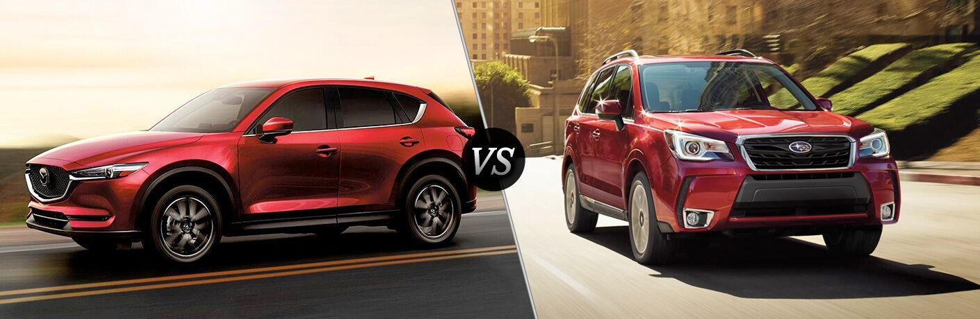 red mazda cx-5 vs red subaru forester