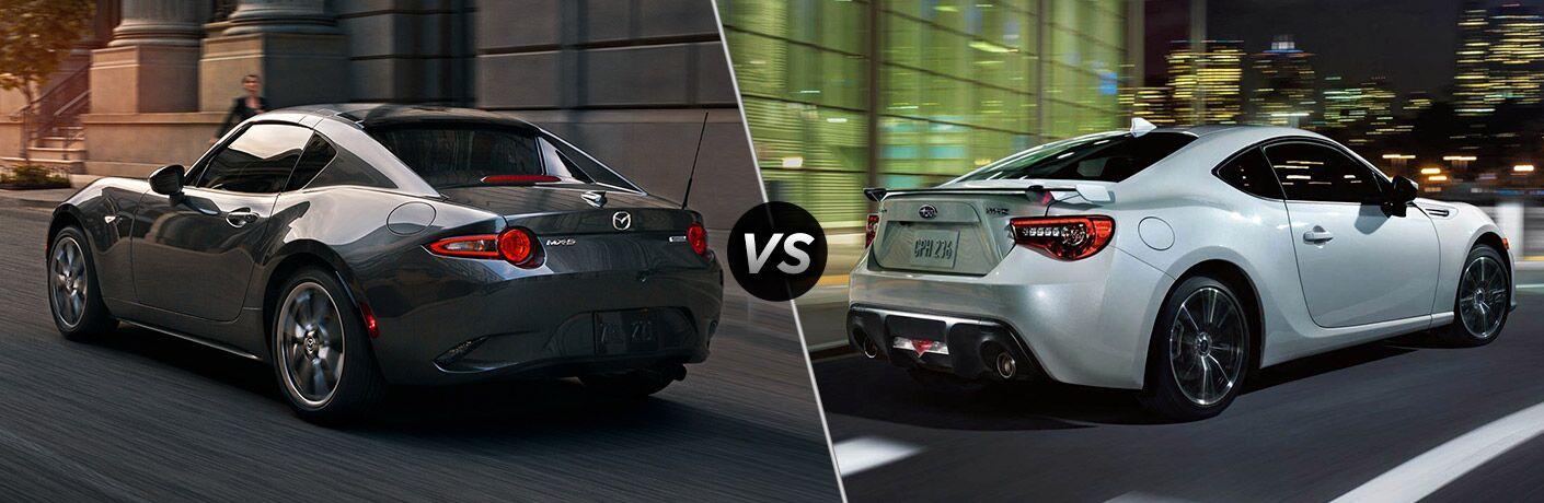 2019 Mazda MX-5 Miata vs 2019 Subaru BRZ