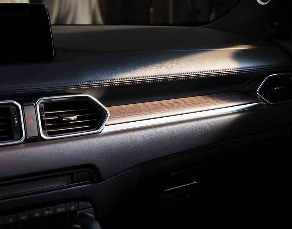 The front dashboard of a 2019 Mazda CX-5
