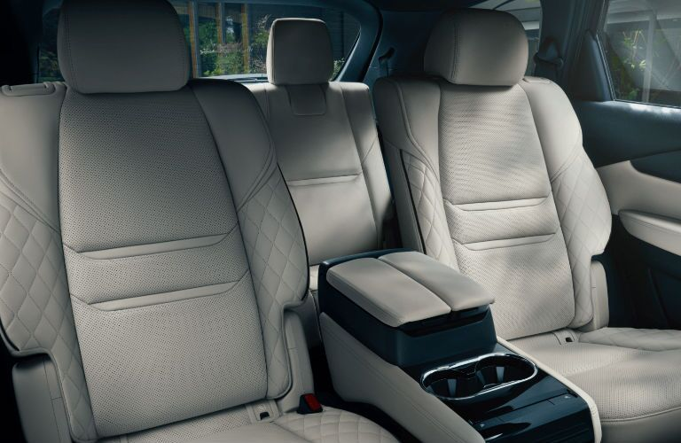 The rear interior of a 2021 Mazda CX-9.