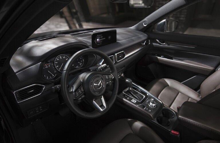 The front interior inside a 2021 Mazda CX-5.