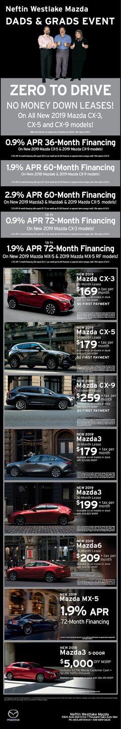 Dads & Grads Mazda Print Ad