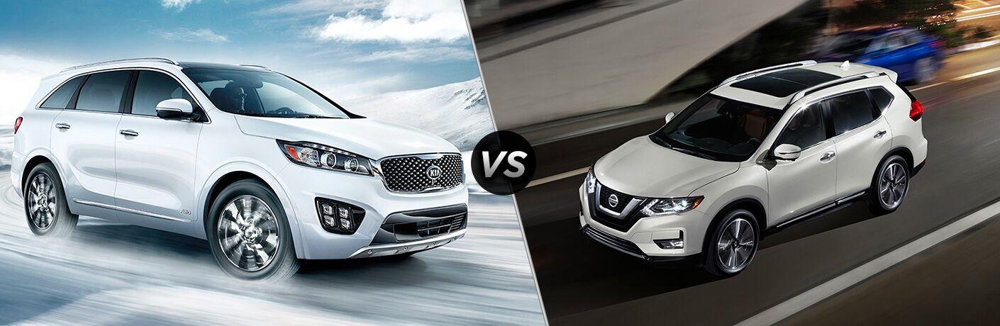 2018 Kia Sorento vs 2018 Nissan Rogue
