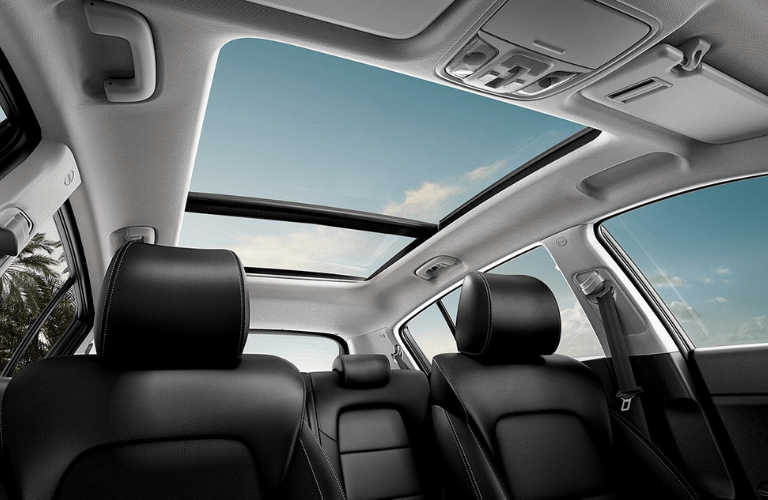 2020 Kia Sportage moonroof view
