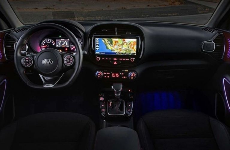 2021 Kia Soul interior dash and wheel