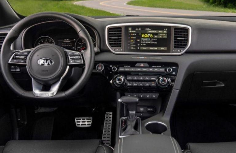 2021 Kia Sportage front wheel and dash