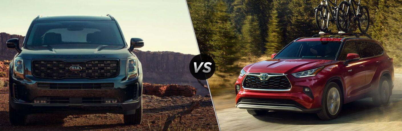 2021 Kia Telluride vs 2021 Toyota Highlander