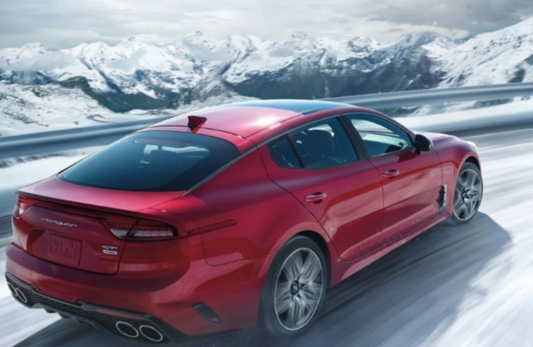 2022 Kia Stinger driving on snow