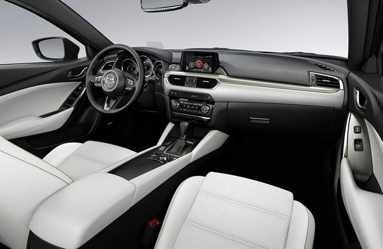 passenger-side interior of 2017 mazda mazda6