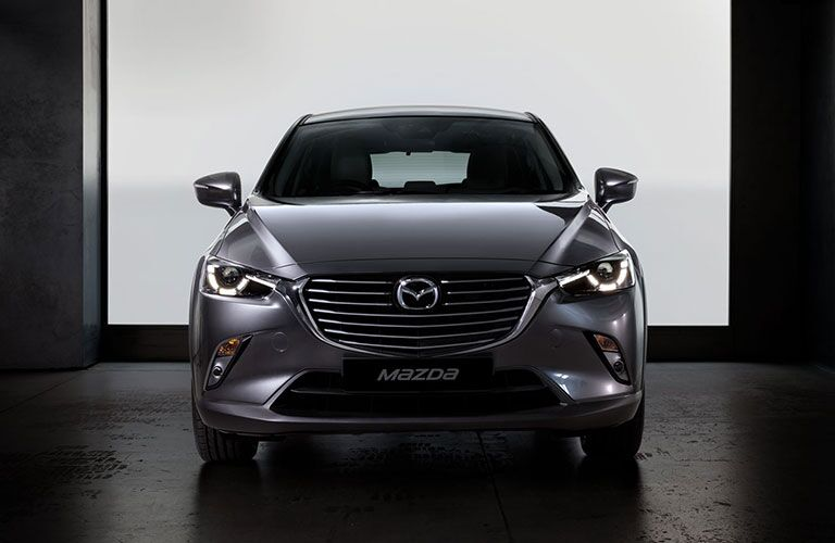 front bumper and grille of silver 2018 mazda cx-3