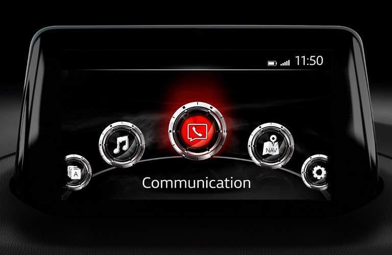 mazda infotainment system screen on 2018 mazda mazda3