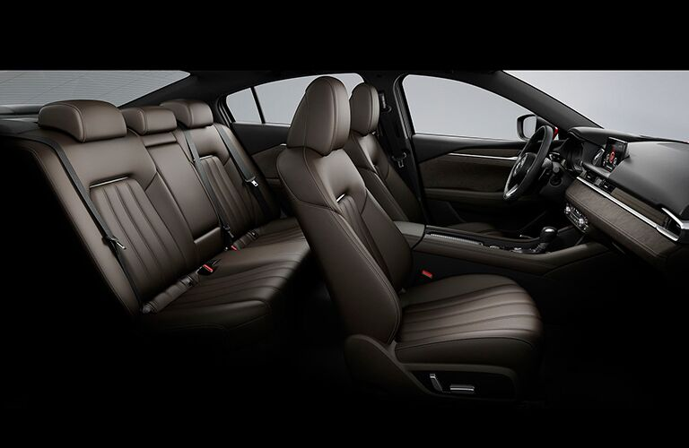 side view of interior seating of 2018 mazda6
