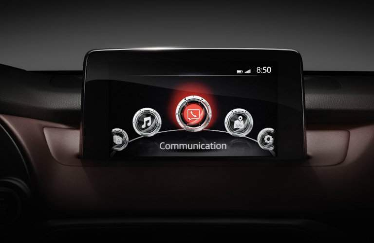 interior MAZDA CONNECT infotainment system in 2018 mazda cx-9
