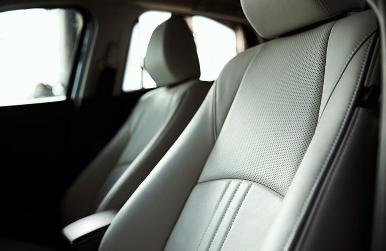 front seats of 2019 mazda cx-3 with leather surface