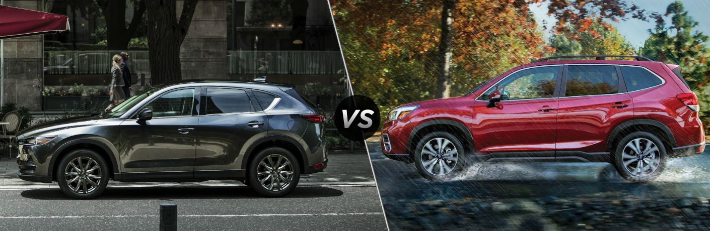 2019 Mazda CX-5 Exterior Driver Side Profile vs 2019 Subaru Forester Exterior Driver Side Profile