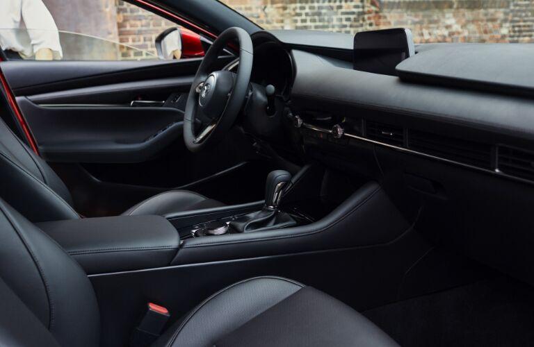 2019 Mazda3 Hatchback front seats and dashboard