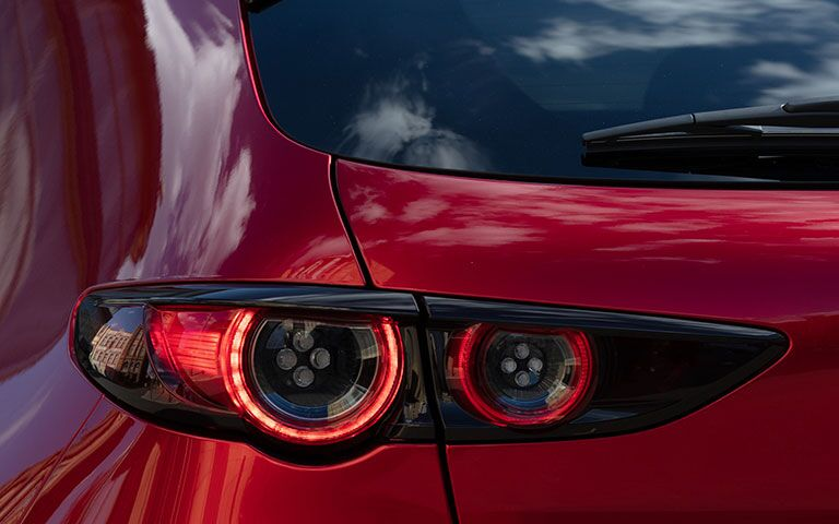 Rear Taillight of a 2019 Mazda3