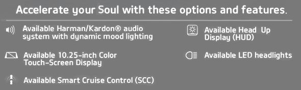 Accelerate your Soul with these available options and features