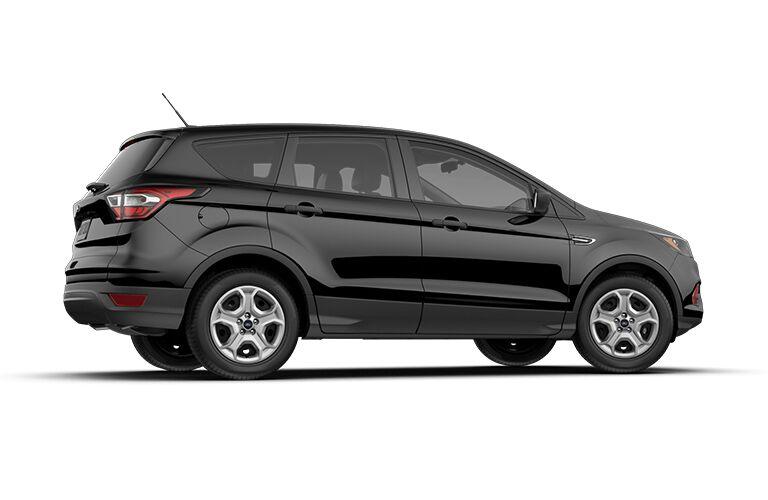 profile of a black 2018 Ford Escape, white background