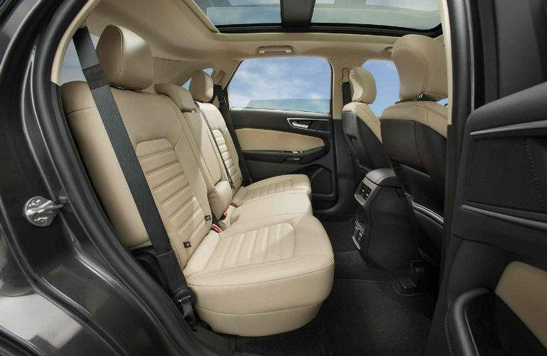 Rear seats of 2018 Ford Edge with vents shown