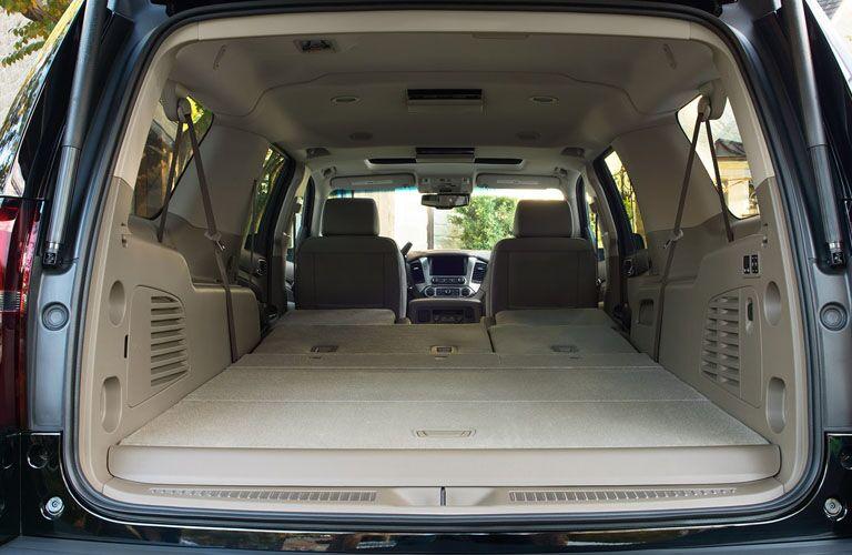 back seats folded down in 2019 suburban