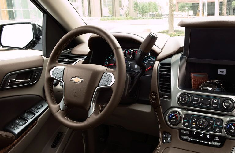 steering wheel and controls of 2019 suburban