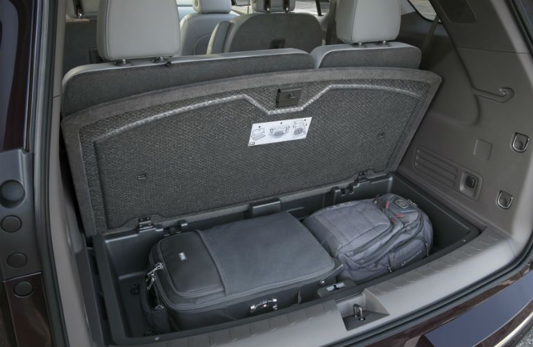 A photo of the storage options in the 2018 Traverse.
