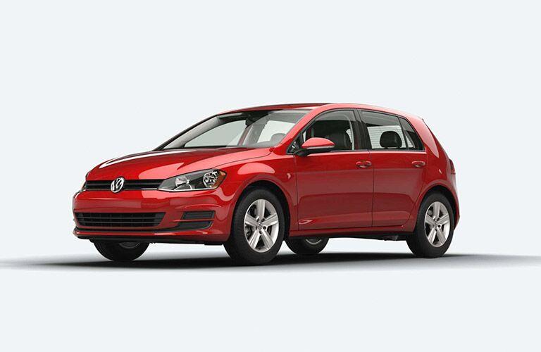 2015 Volkswagen Golf red side view