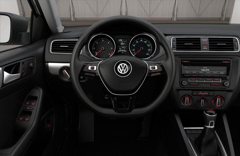 2015 Volkswagen Jetta steering wheel and dash