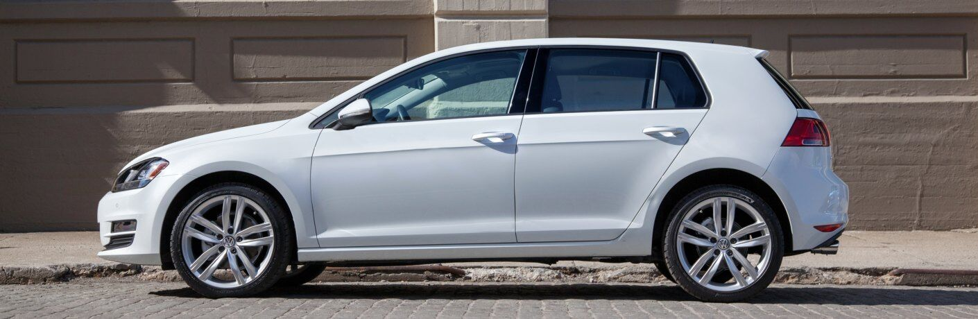 2015 Volkswagen Golf white side view