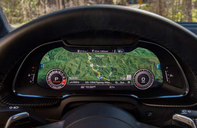 2017 Audi R8 in-dash navigation screen