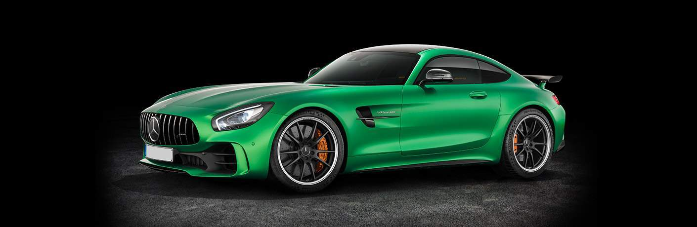 Mercedes-Benz AMG GT R green side view