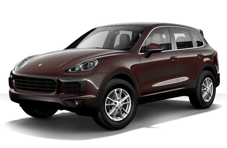 2017 Porsche Cayenne maroon side view