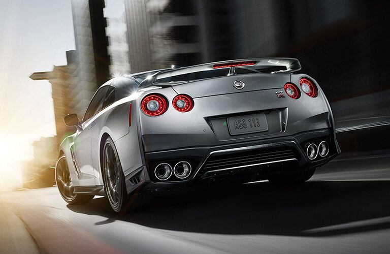 2017 Nissan GT-R silver back view