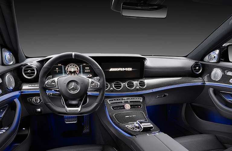 2018 Mercedes-Benz AMG E63 black and blue interior