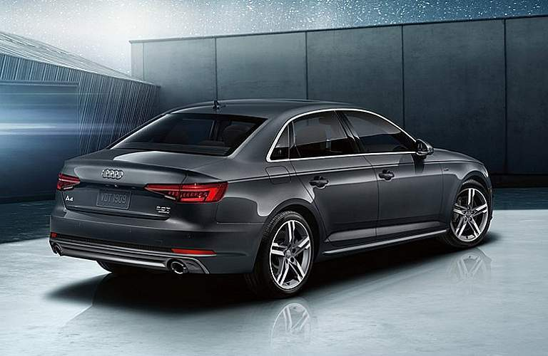 2018 Audi A4 gray side back view