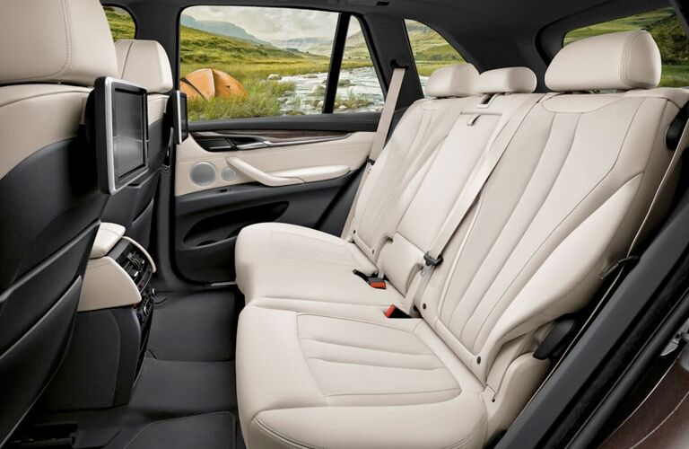 2018 BMW X5 tan leather back