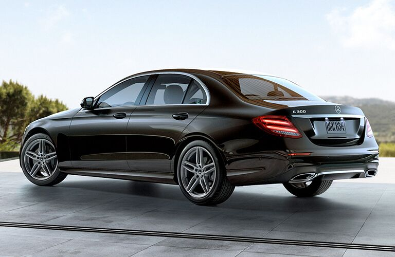 2019 Mercedes-Benz E-Class black back side view