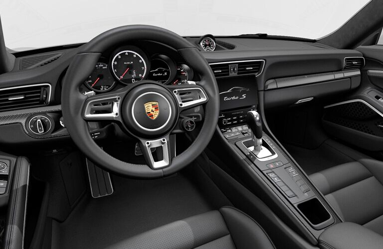2018 Porsche 911 steering wheel and dash