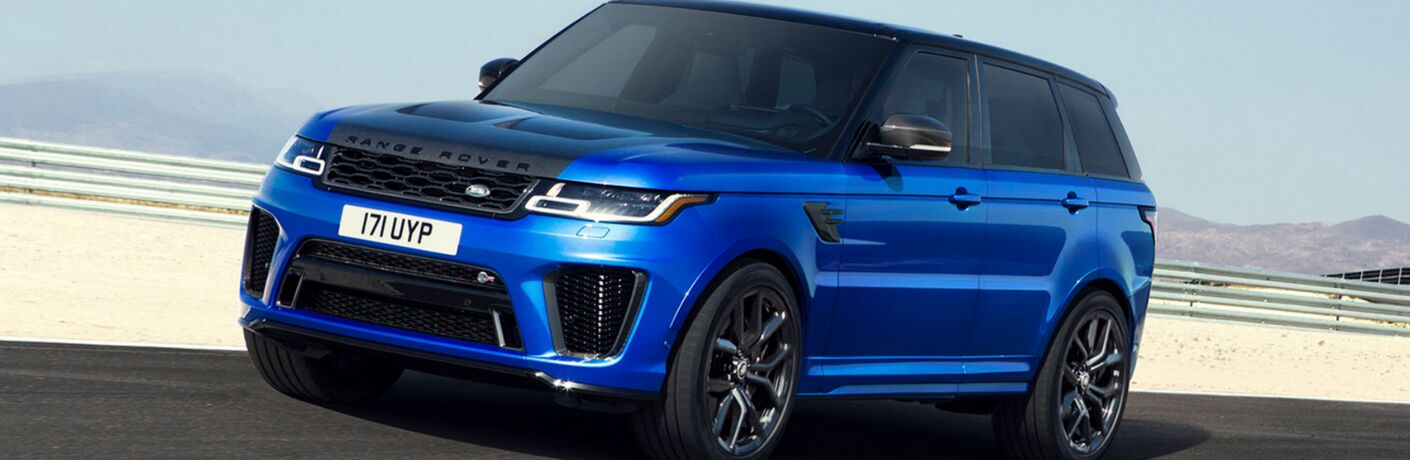 2018 Land Rover Range Rover Sport blue side view
