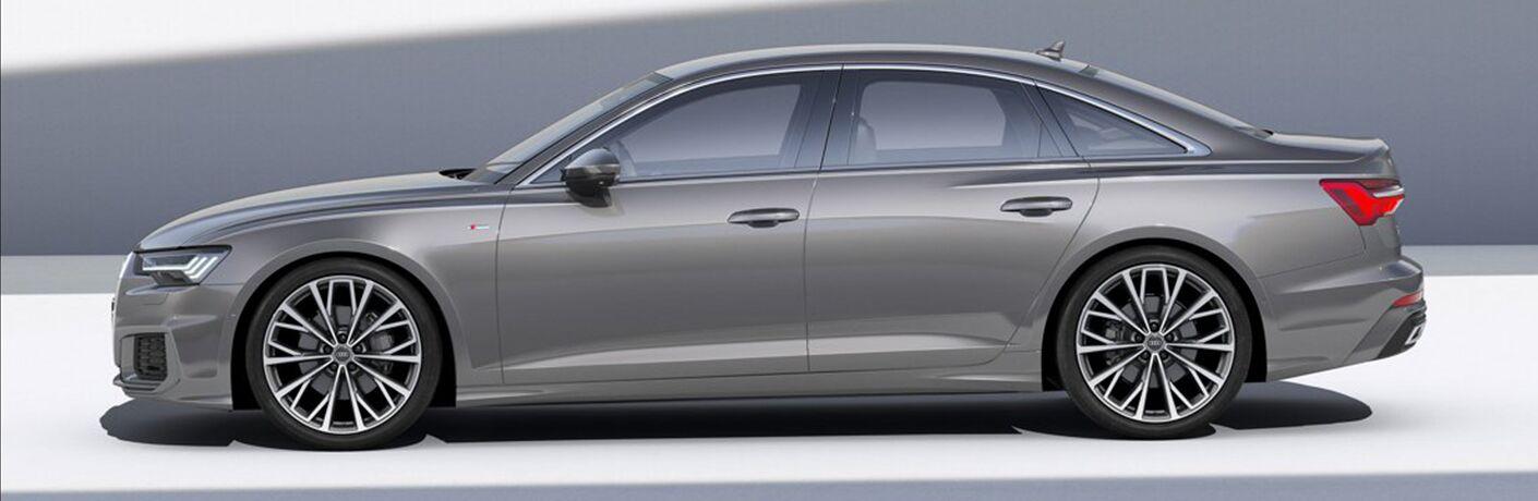 2019 Audi A6 silver side view